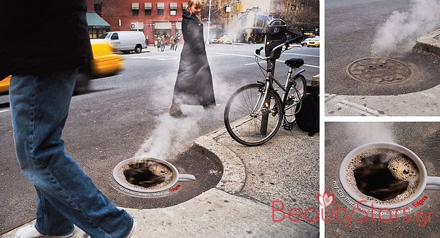 This fantastic use of a manhole cover.
