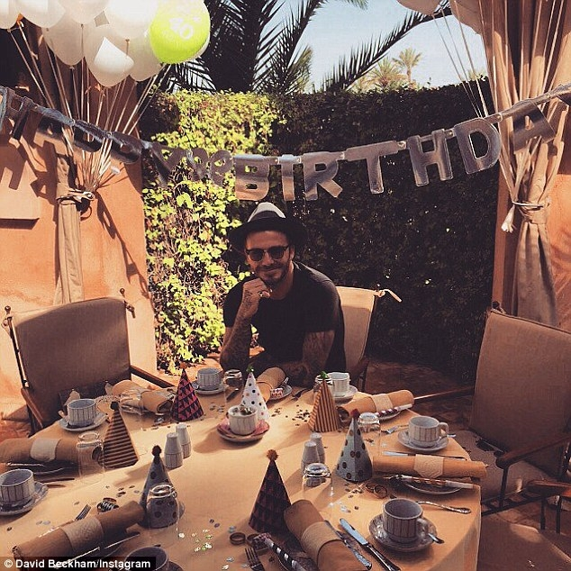 to party tou david beckam marrakesh morocco gia ta 40 xronia tou3