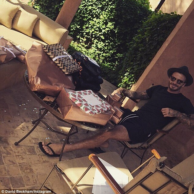 to party tou david beckam marrakesh morocco gia ta 40 xronia tou5