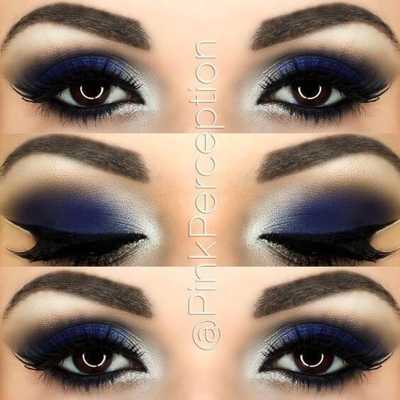 mple forema blue dress make up